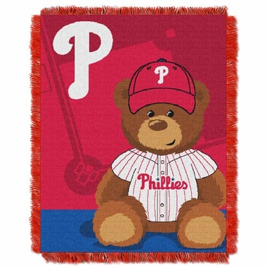Philadelphia Phillies Jacquard BABY Throw Blanket