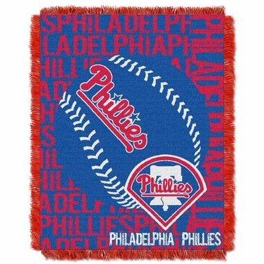 Philadelphia Phillies Jacquard Woven Throw Blanket
