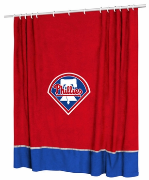 Philadelphia Phillies Jersey Material Shower Curtain