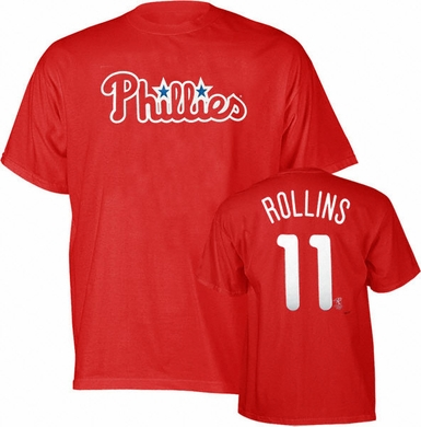 Philadelphia Phillies Jimmy Rollins Name and Number T-Shirt