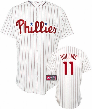 Philadelphia Phillies Jimmy Rollins YOUTH Derek Jeter Replica Player Jersey