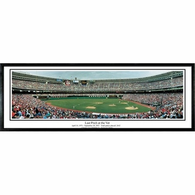 Philadelphia Phillies Last Pitch at the Vet Framed Panoramic Print