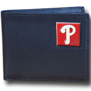 Philadelphia Phillies Leather Bifold Wallet (F)