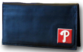 Philadelphia Phillies Leather Checkbook Cover