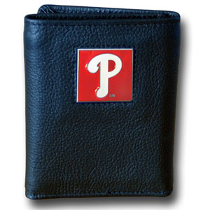 Philadelphia Phillies Leather Trifold Wallet (F)