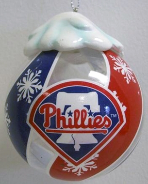 Philadelphia Phillies Light Up Glass Ball Ornament