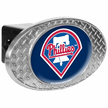 Philadelphia Phillies Metal Diamond Plate Trailer Hitch Cover