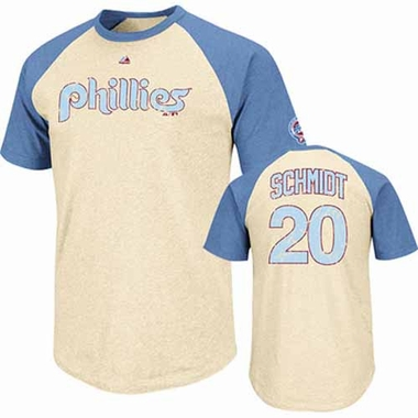 Philadelphia Phillies Mike Schmidt Cooperstown All Star Player Raglan Premium T-Shirt