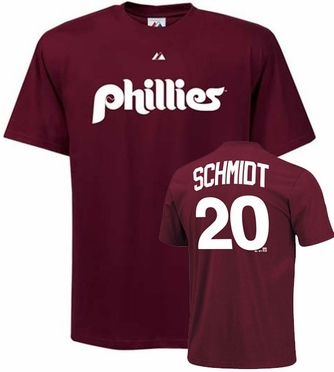 Philadelphia Phillies Mike Schmidt Name and Number T-Shirt