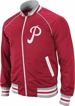 Philadelphia Phillies Mitchell & Ness Broad Street Throwback Premium Track Jacket