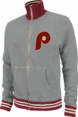 Philadelphia Phillies Mitchell & Ness Garment Washed Track Jacket