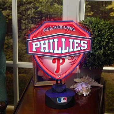 Philadelphia Phillies Neon Shield Table Lamp