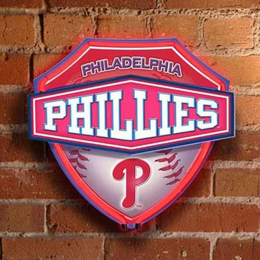 Philadelphia Phillies Neon Shield Wall Lamp