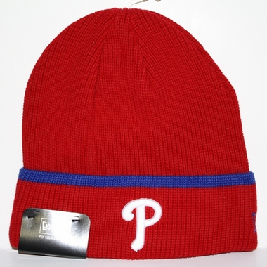 Philadelphia Phillies New Era Pop Cuff Knit Cuffed Knit Hat