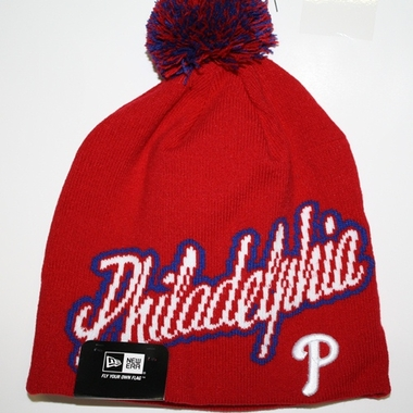 Philadelphia Phillies New Era Script Freeze Cuffless Knit Hat