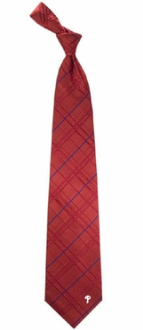 Philadelphia Phillies Oxford Stripe Woven Silk Necktie