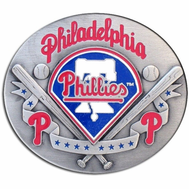 Philadelphia Phillies Enameled Belt Buckle