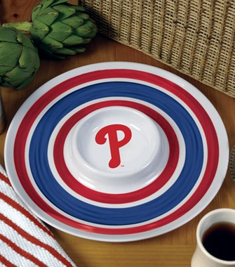 Philadelphia Phillies Plastic Chip and Dip Plate