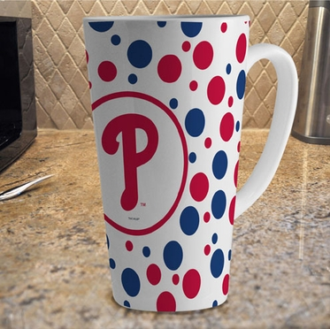Philadelphia Phillies Polkadot 16 oz. Ceramic Latte Mug