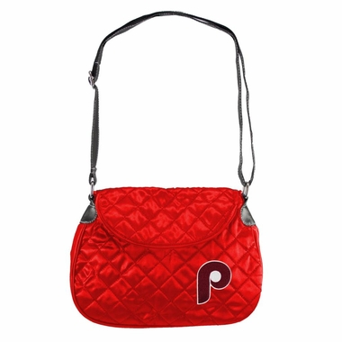 Philadelphia Phillies Quilted Saddlebag (Retro Logo)