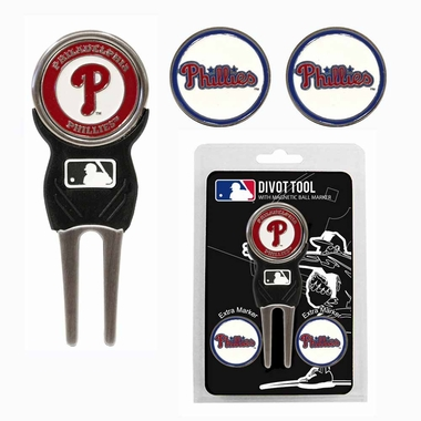 Philadelphia Phillies Repair Tool and Ball Marker Gift Set