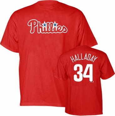 Philadelphia Phillies Roy Halladay Name and Number T-Shirt
