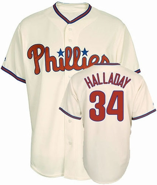 Philadelphia Phillies Roy Halladay Replica Player Jersey (Alternate)