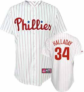 Philadelphia Phillies Roy Halladay YOUTH Replica Player Jersey - Medium