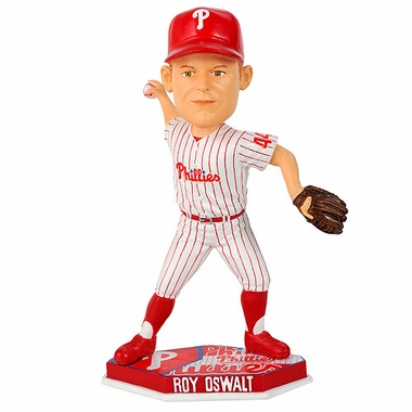 Philadelphia Phillies Roy Oswalt 2011 Plate Base Bobblehead