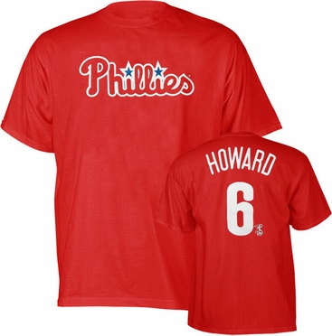 Philadelphia Phillies Ryan Howard YOUTH Name and Number T-Shirt - Medium