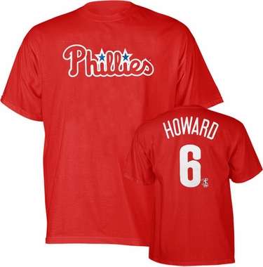 Philadelphia Phillies Ryan Howard YOUTH Name and Number T-Shirt - X-Large