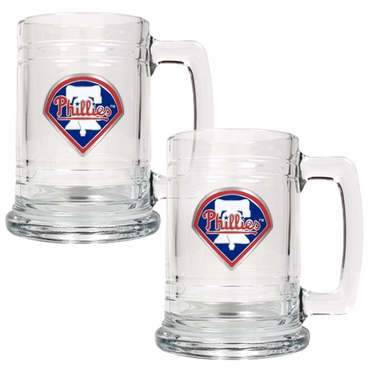 Philadelphia Phillies Set of 2 15 oz. Tankards