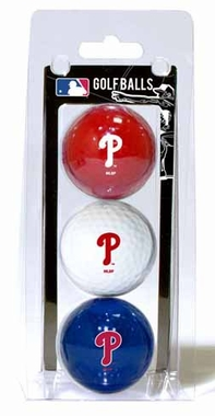 Philadelphia Phillies Set of 3 Multicolor Golf Balls