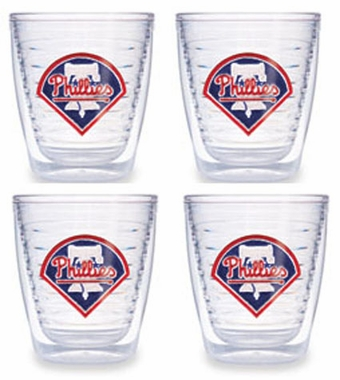 Philadelphia Phillies Set of FOUR 12 oz. Tervis Tumblers