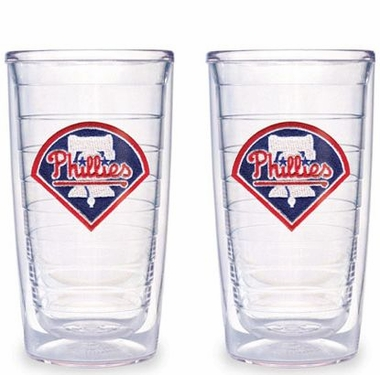 Philadelphia Phillies Set of TWO 16 oz. Tervis Tumblers
