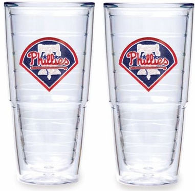 "Philadelphia Phillies Set of TWO 24 oz. ""Big T"" Tervis Tumblers"
