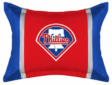 Philadelphia Phillies SIDELINES Jersey Material Pillow Sham