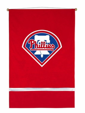 Philadelphia Phillies SIDELINES Jersey Material Wallhanging