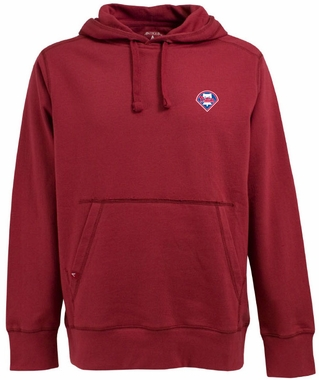 Philadelphia Phillies Mens Signature Hooded Sweatshirt (Color: Red)