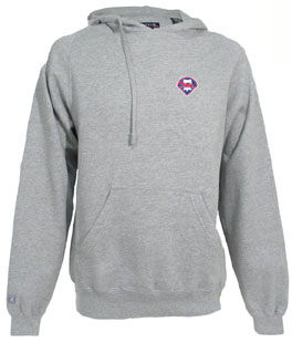 Philadelphia Phillies Mens Signature Hooded Sweatshirt (Color: Gray) - XXX-Large
