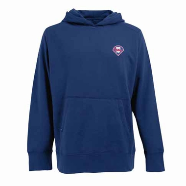Philadelphia Phillies Mens Signature Hooded Sweatshirt (Team Color: Royal)