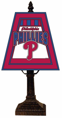 Philadelphia Phillies Small Art Glass Lamp