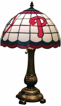 Philadelphia Phillies Stained Glass Table Lamp