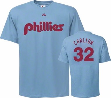Philadelphia Phillies Steve Carlton Name and Number T-Shirt