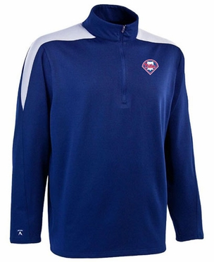 Philadelphia Phillies Mens Succeed 1/4 Zip Performance Pullover (Team Color: Royal)