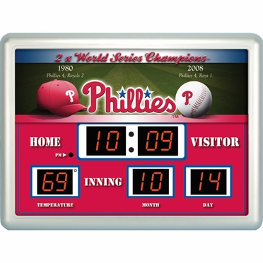 Philadelphia Phillies Time / Date / Temp. Scoreboard