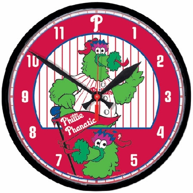 Philadelphia Phillies Wall Clock (Mascot)
