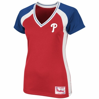 Philadelphia Phillies Womens Opal V-Neck Top