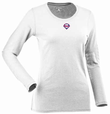 Philadelphia Phillies Womens Relax Long Sleeve Tee (Color: White)