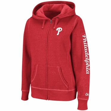 Philadelphia Phillies Womens Steppin' Up Full Zip Hoody